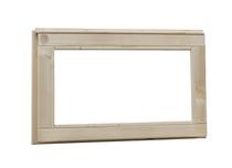 Woodvision | Vast raam met melkglas | Geïmpregneerd bruin