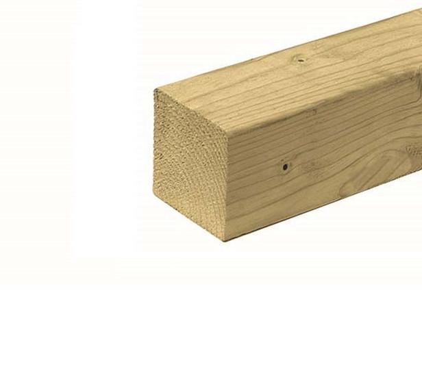 Tuinhout paal | Vuren | 120 x 120 mm | Sc. 300 cm