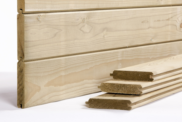 Blokhutprofiel plank | 28 x 145 mm | Vuren | 300 cm
