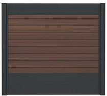 IdeAL | Scherm Antraciet- Symmetry Burnt Umber | 180x180 | 9 planks