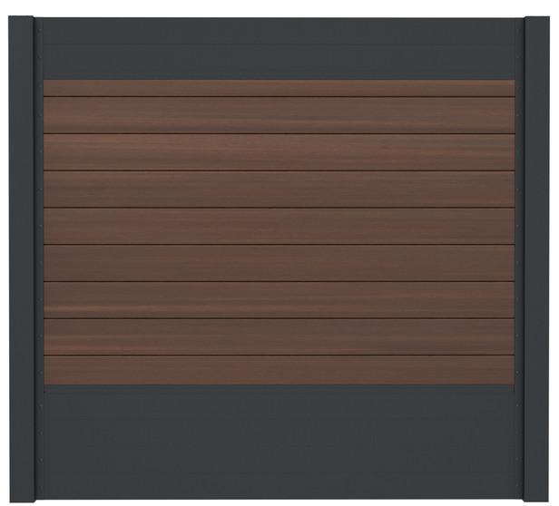 IdeAL   Scherm Antraciet- Symmetry Burnt Umber   180x180   9 planks