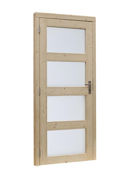 Woodvision | Glasdeur 4-ruits | Linksdraaiend | Blank
