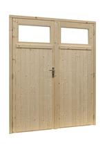 Woodvision | Vuren dubbele glasdeur 1-ruits