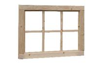 Woodvision | Vast raam 6-ruits | Geïmpregneerd bruin