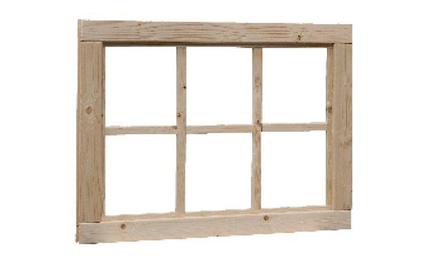 Woodvision | Vast raam 6-ruits | Geïmpregneerd groen