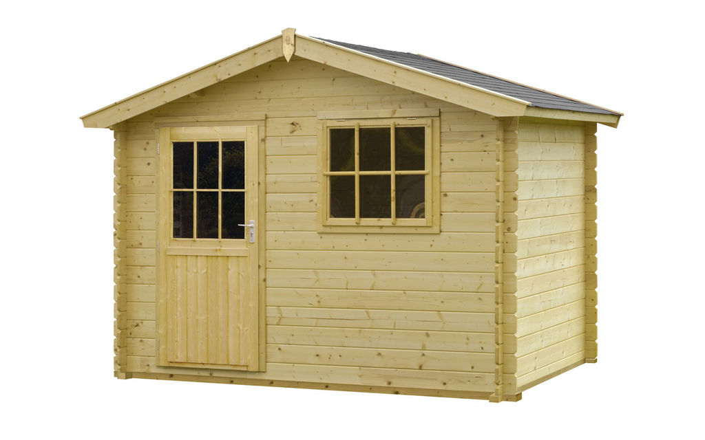 Woodvision | Blokhut Schotland 300 x 200 cm (groen geïmpregneerd) Hillhout voordeligste prijs