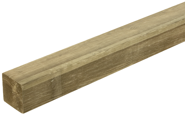 Geschaafde paal | Grenen | 68 x 68 mm | 400 cm
