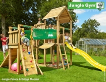 Jungle Gym | Palace + Bridge Module | DeLuxe | Blauw