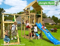 Jungle Gym | Palace + Climb Module X'tra | DeLuxe | Blauw