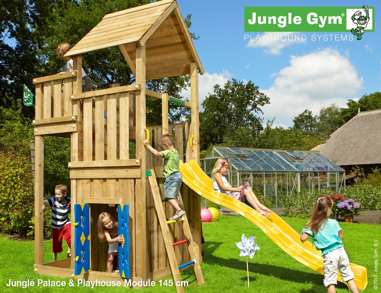 Jungle Gym | Palace + Playhouse Module 145 | DeLuxe | Paars