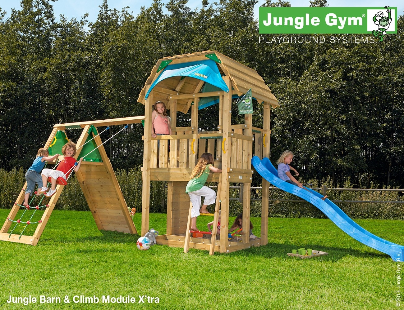 Jungle Gym | Barn + Climb Module X'tra | DeLuxe | Paars