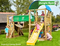 Jungle Gym | Farm + Bridge Module | DeLuxe | Blauw