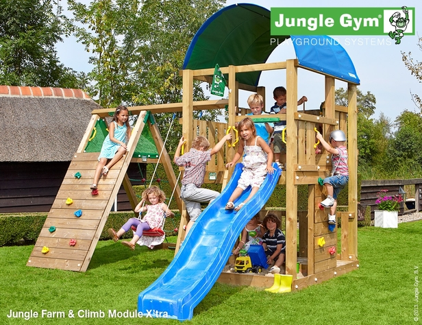 Jungle Gym | Farm + Climb Module X'tra | DeLuxe | Blauw
