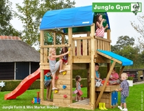 Jungle Gym | Farm + Mini Market Module | DeLuxe | Blauw