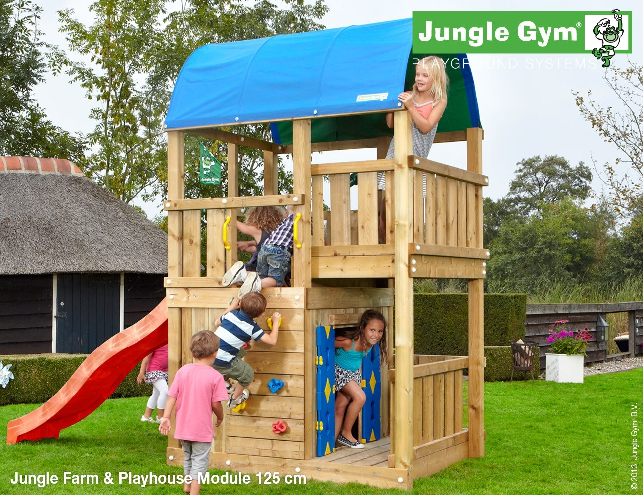 Jungle Gym | Farm + Playhouse 125 | DeLuxe | Donkergroen