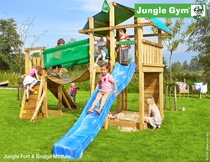 Jungle Gym | Fort + Bridge Module | DeLuxe | Blauw