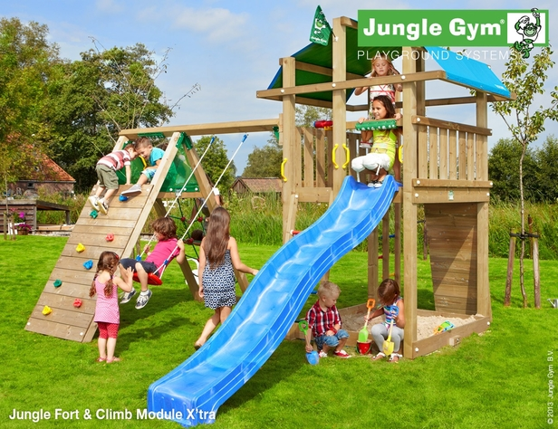 Jungle Gym | Fort + Climb Module X'tra | DeLuxe | Blauw