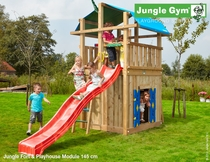Jungle Gym | Fort + Playhouse Module 145 | DeLuxe | Blauw