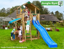 Jungle Gym | Chalet + Mini Market | DeLuxe | Blauw
