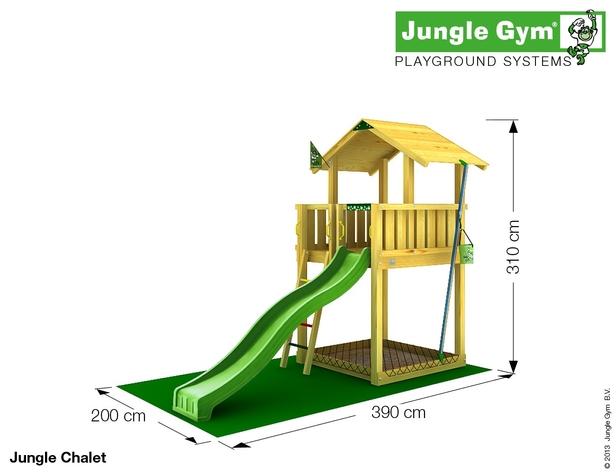 jungle gym chalet mini market deluxe blauw. Black Bedroom Furniture Sets. Home Design Ideas