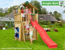Jungle Gym | Chalet +  Playhouse Module 145 | DeLuxe | Blauw