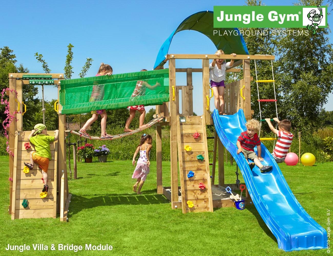 Jungle Gym   Villa + Bridge Module   DeLuxe   Blauw
