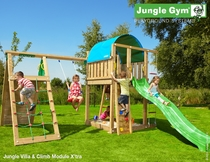 Jungle Gym | Villa + Climb Module X'tra | DeLuxe | Blauw