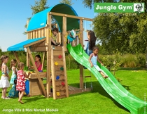 Jungle Gym | Villa + Mini Market Module | DeLuxe | Blauw