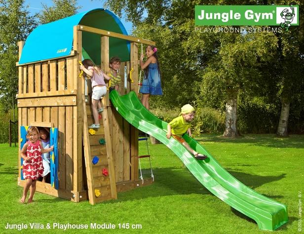 jungle gym villa playhouse 145 deluxe blauw. Black Bedroom Furniture Sets. Home Design Ideas