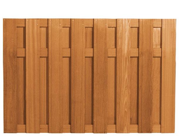 Hardhouten plankenscherm | 130cm | 15-planks