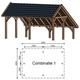 Trendhout | Kapschuur De Hoeve XL 6.35m | Combinatie 1