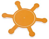 KBT | Stuurwiel in HDPE | boot | oranje