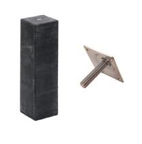 Betonpoer recht | 15 x 15 cm voor paal 14-15 cm | Inclusief stelplaat
