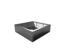 Polyester bloembak Buxus | 200 x 200 x 60 cm | Exterieur