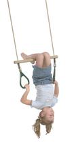 KBT | Trapeze hout met kunststof ringen | Paars