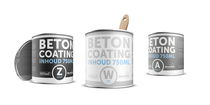 Coating betonverf zwart | 750 ML