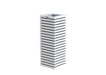 Hillhout | Elan zuilbloembak | 40 x 40 x 109 cm | Wit