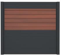 IdeAL | Scherm Antraciet- Symmetry Cinnabar | 180x180 | 6 planks