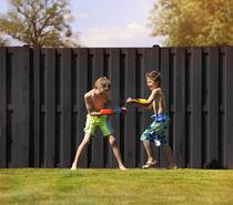 Plankenscherm Grenen | 15-planks | Zwart gespoten | 180 x 180 cm