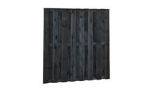Plankenscherm Grenen | 15-planks | Zwart geïmpregneerd | 180 x 180 cm