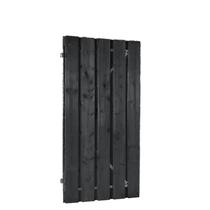Plankendeur zwart geimpregneerd | verstelbaar frame