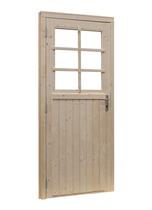 Woodvision | Glasdeur 6-ruits | Geïmpregneerd groen | Linksdraaiend