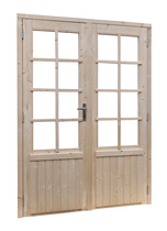 Woodvision | Vuren dubbele glasdeur 8-ruits