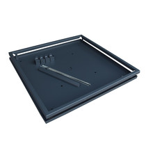 Gardenlux | Frame Keramische plantenbak 90x90x45 | XG Cupid Zwart