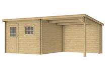 Woodvision | Blokhut Gambia met luifel 200 cm