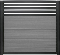 SeriAL | Aluminium Scherm met trellis Antraciet- Multigrey Dark | 180x180