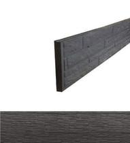 Betonrotsmotief onderplaat | Dubbelzijdig Leisteenmotief | Ongecoat | Antraciet