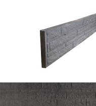 Betonrotsmotief onderplaat | Dubbelzijdig Rotsmotief | Ongecoat | Antraciet