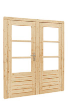 Dubbele deur 1-ruits/3-ruits met 5-punts sluiting