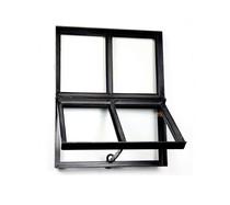 Stalen raam | Openklapbaar | 30 x 40 cm | Dubbel glas | Zwart gecoat